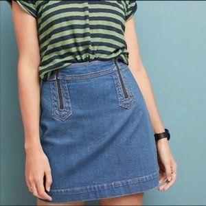 Pilcro & the Letterpress High Waist Denim Skirt 6